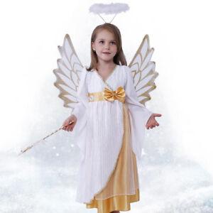 Kids Girls Angel Halloween Costume Children's Day Fancy Dress Full ...