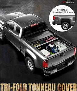 For-2015-2019-Chevy-Colorado-GMC-Canyon-5-Ft-Bed-Sb-Tri-Fold-Soft-Tonneau-Cover
