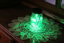Solar Mason Jar Lid 10 LED Mason Jar Lights, Green Fairy Light, Black Ring