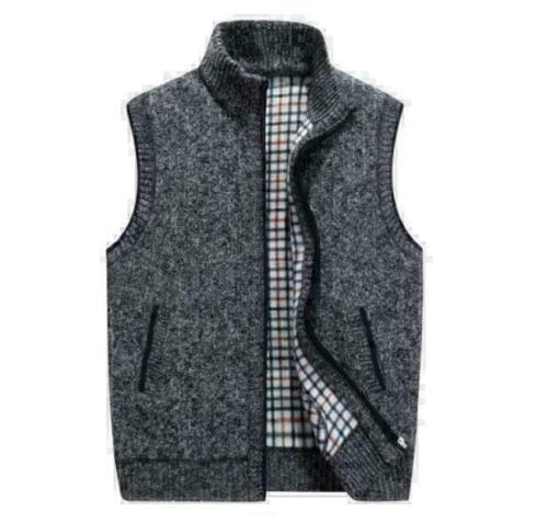 Warm Coat Thicken Outwear Men/'s Vest Winter Padded SleevelessJacket Autumn