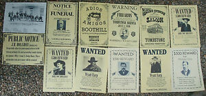 OUTLAWS-LAW-DOGS-TOMBSTONE-POSTERS-Novelty-reproductions-SET-D-O-K-Coral