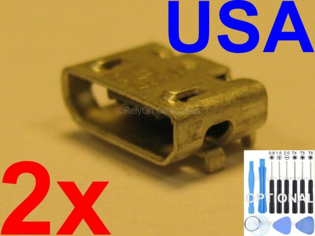 2 X New Micro USB Charging Sync Port Charger For Nextbook 8 NXW10QC32G USA