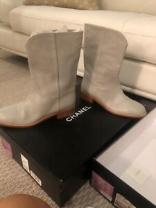 Chanel-Boots-Size-38-And-39-Gray-Color