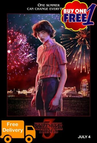 Stranger things 3   A3//A4 movie poster 2019  v44 buy1get1free
