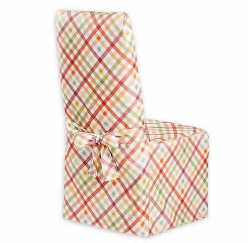 Autumn Gingham Printed Fabric Dining Room Chair Cover