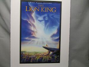 Disney Movie Poster The Lion King 1994 Walt Disney Studios Color Cartoon Ebay