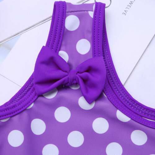 Kids Girls Baby Swimsuit Ruffled One-shoulder Swimwear Bathing Suit Beachwear