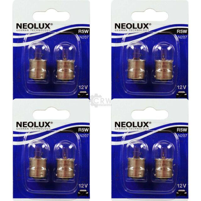 4x Neolux Kit 2x R5W 5W BA15s 12V Ampolla Bombilla