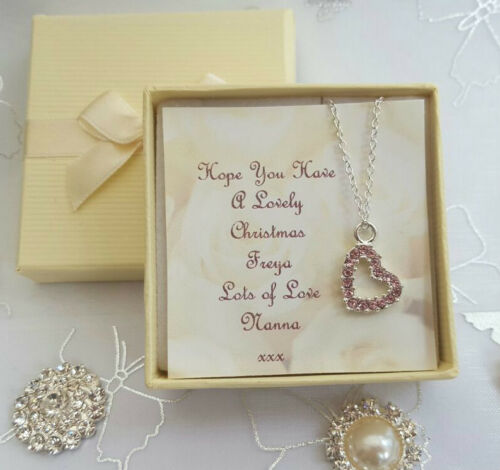 CHRISTMAS GIFT NECKLACE GRAND DAUGHTER SISTER NIECE PRESENT STOCKING FILLER