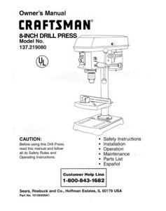 craftsman drill user manual