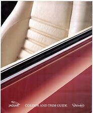 JAGUAR COLORI E FINITURE 1993 UK Mercato Opuscolo SOVRANO XJ6 XJ12 XJS Daimler