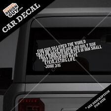 Item 4 JOHN 3:16 Bible Verse Christian Car DECAL STICKER Religious For God  Loved 3 16  JOHN 3:16 Bible Verse Christian Car DECAL STICKER Religious For  God ...