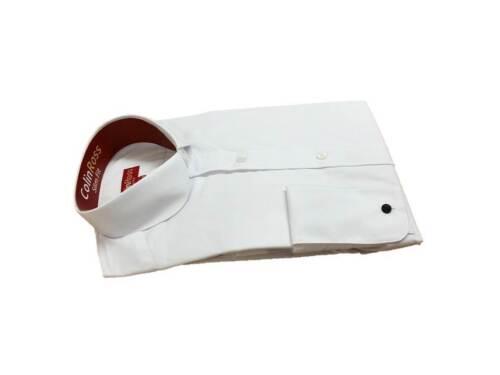 Modellante /& Std Fit Bianco a Becco Paraocchi Penny Rotondo Colletto Camicia