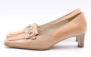 067ab14ca0d40 Details zu CAPRICE Pumps Gr. 38,5 UK 5,5 Beige Leder Echtleder Damen Schuhe