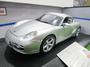 PORSCHE-CAYMAN-S-gris-argent-au-1-18-MAISTO-31122-voiture-miniature