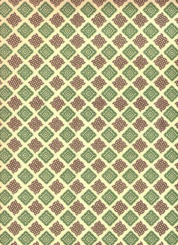 Carta Varese Italienisches Buntpapier 50 x 70 cm grün//braun Überzugspapier