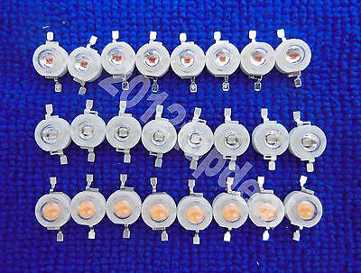 10 50 100 pcs 1W 3W High Power Yellow/Pink/UV LED Bulb Lamp Light