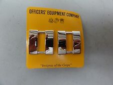 GENUINE US MILITARY SET OF 2 MARINE CORPS CAPTAIN RANK PIN ON CHROME FOR SHOULDE