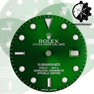 To-Fit-Rolex-Submariner-Steel-Green-Luminous-Dial-Model16800-16610-116610