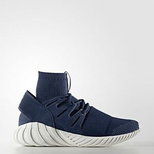 Image is loading Adidas-Originals-Tubular-Doom-PK-Primeknit-Night-Marine- 7616bce17