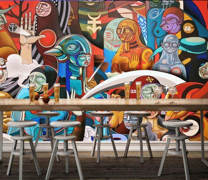 3D Graffiti 553 Photo Papier Peint en Autocollant Murale Plafond Chambre Art