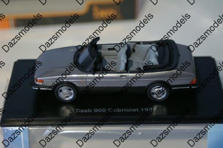 Neo Neo Neo Saab 900 Cabriolet 1987 Grey 1 43 Resin NEO43569 edbd69