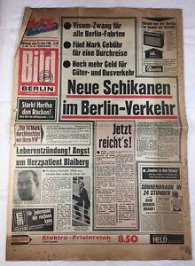 Image-journal (12.6.1968): Nouvelles Harcèlement Dans Le Berlin-transport-afficher Le Titre D'origine