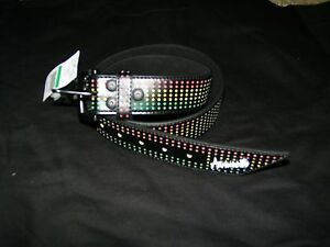 Armourdillo-Riddle-Belt-Rainbow-Multi-Color-Size-S-27-28-29-30-31-NWT-Skater-Ska