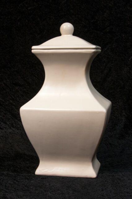 Stoneware tea Storage Canister White Threshold New in box        #A4