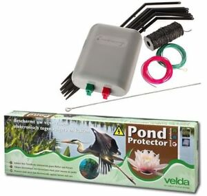Velda Pond Protector Koi Fish Ponds Electric Fence Heron