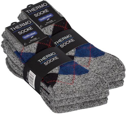3-6 oder 9 Paar Warme Herren Thermo-Socken Winter Socken Vollfrottee Strümpfe