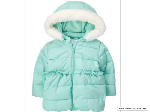 NEW Gymboree Girls Coat Jacket Aqua Blue Hooded  NWT sizes  6-12 MTHS 12-18 MTHS