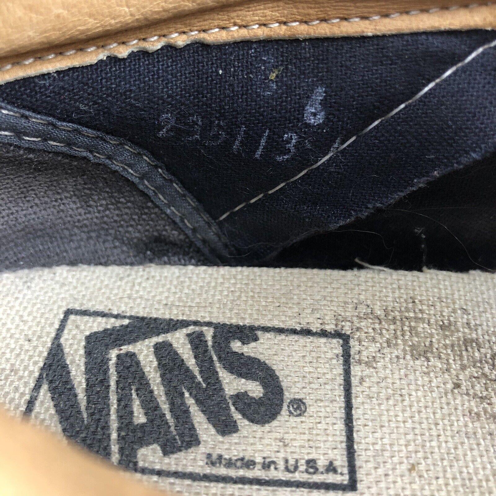 Vintage 1990s VANS USA Red Suede Skate Skateboard… - image 5