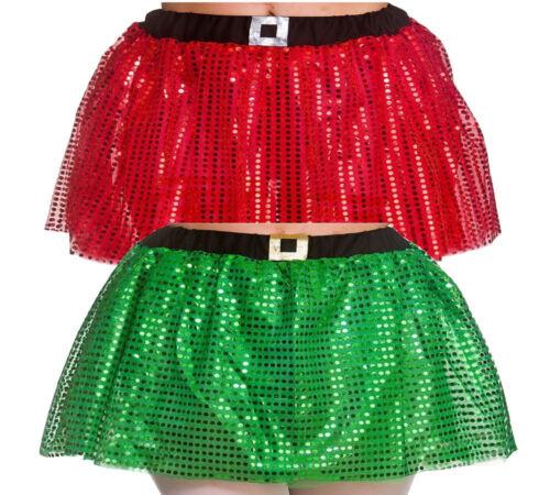 Christmas Elf Tutu Santas Little Helper Xmas Grotto Fancy Dress Accessory