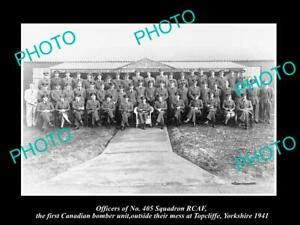 OLD-POSTCARD-SIZE-MILITARY-PHOTO-CANADIAN-BOMBER-SQUADRON-405-RCAF-c1941