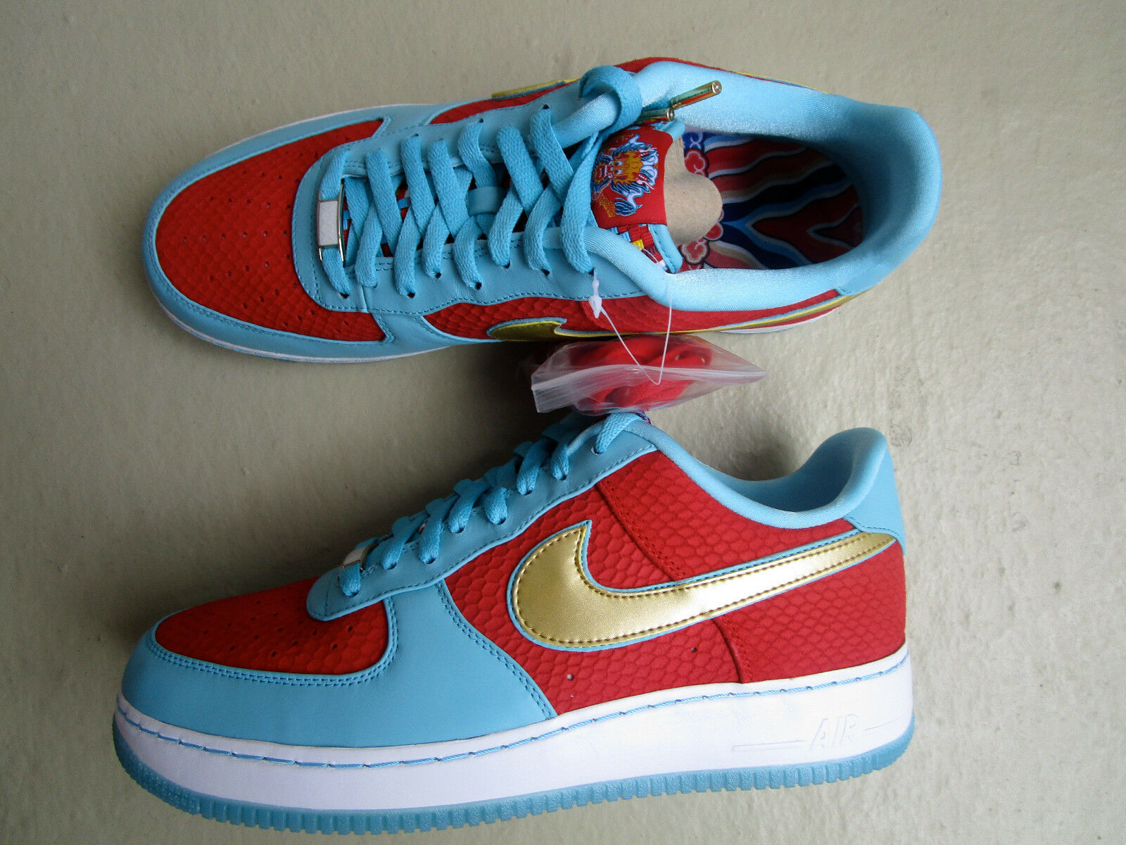 "Nike Air Force 1 Low 45 ""Year of the Dragon"" 2012 Sport Red/Metallic Gold"