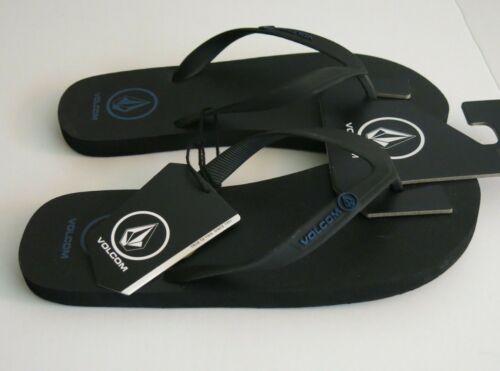 Volcom 12 Men/'s Rocker Sandal Black Blue Surf Flip Flops Sandals Shoes NWT