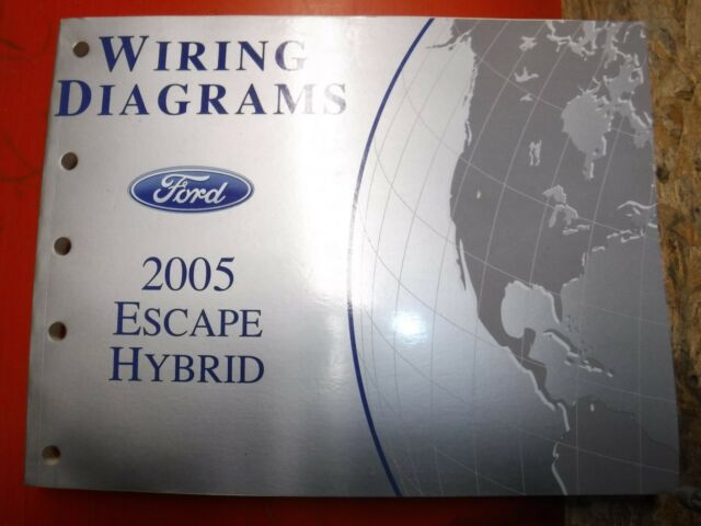 2005 Ford Escape Hybrid Original Factory Wiring Diagrams