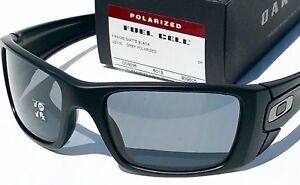 62cb84c059b42 NEW  Oakley FUEL CELL Matte Black POLARIZED Grey Lens Sunglass ...