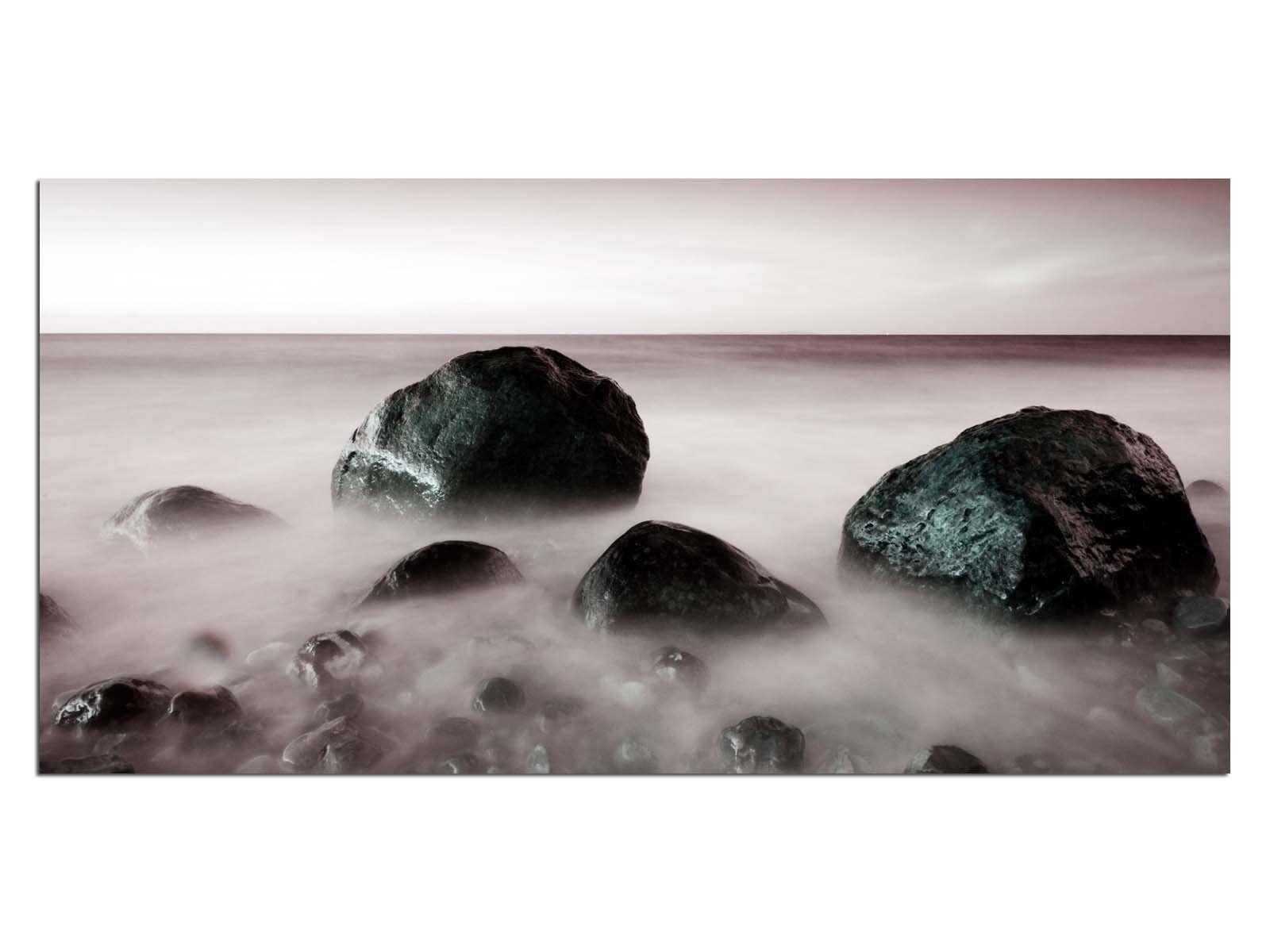 Deco Glass Picture EG4100500823 FOG AT OCEAN EFFECT Größe 39,37  x 19,68  HD Prin