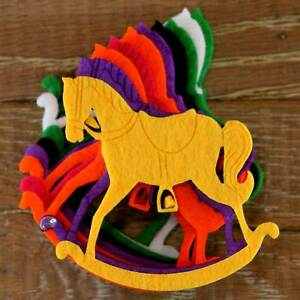 Cavallo A Dondolo Artigianale.Dettagli Su 10x Spessore 3mm Feltro Cavallo A Dondolo Artigianale Forme Taglie 6 8 10 Cm 11 Colori Mostra Il Titolo Originale