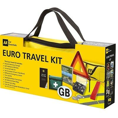 AA European Driving Travel Kit Gift Pack 2016 Legal Requirements France Spain