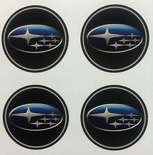 4x 55 mm fits SUBARU wheel STICKERS center badge centre trim cap hub alloy