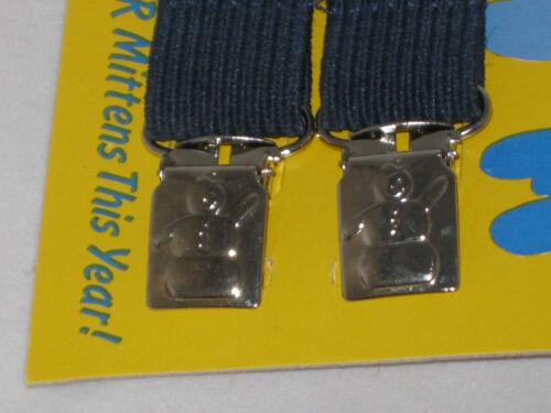 Mitten Clip Kids Mitten Keepers With Metal Snowman Clip Design Gray Strap