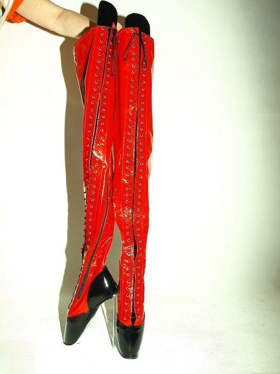 High heels stiefel lack pu  ballet  Größe 37-47  heel 21cm POLAND