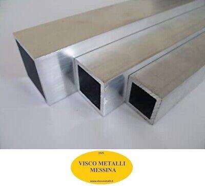 fresa tornio hobby casa Tubo rettangolare Alluminio 6060 mm 20x10x1,5-2 mt