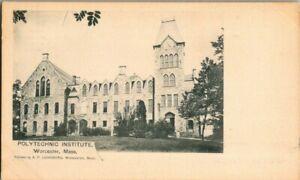1905-WORCESTER-MASS-POLYTHECHNIC-INSTITUTE-POSTCARD-KK2