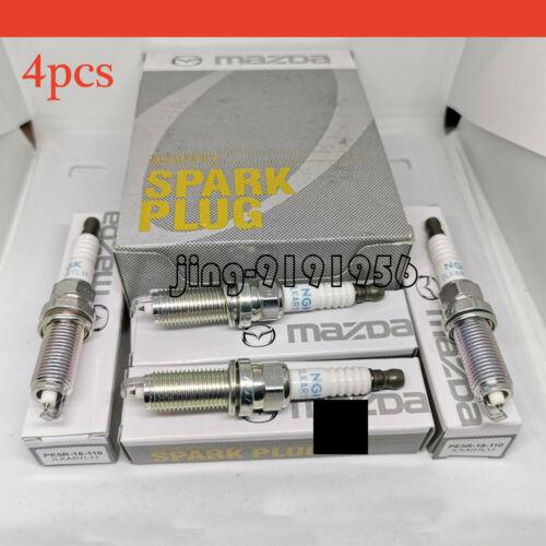 4 pcs Iridium ILKAR7L11 Spark Plug PE5R-18-110 For Mazda CX-3 CX-5 MX-5 Miata