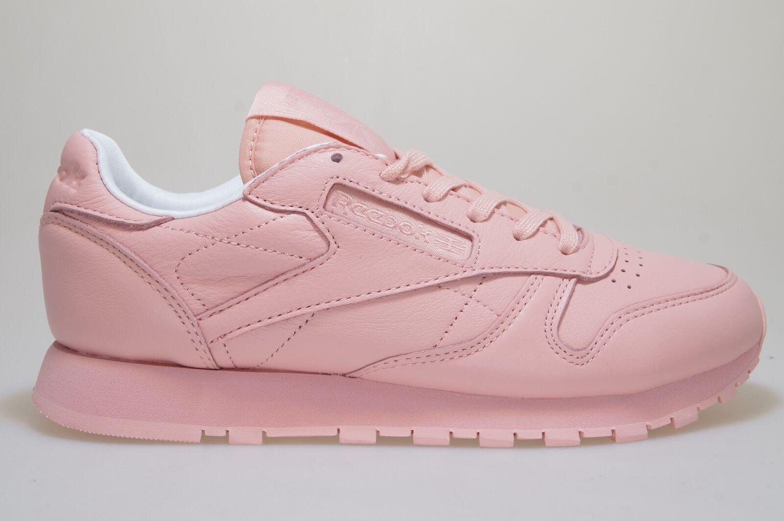 Zapatos promocionales para hombres y mujeres Reebok Cuero Clásico Pastels lavado ROSA bd2771 Zapatillas Deportivas Nuevas