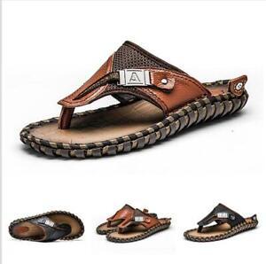 Slipper-Shoes-Men-Thong-Sandals-Flats-Beach-Trail-Slides-Summer-Comfort-Sand-New